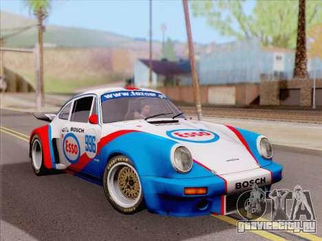 Porsche 911 RSR 3.3 skinpack 4 для GTA San Andreas вид сзади слева