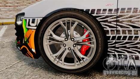 Audi R8 GT Coupe 2011 Drift для GTA 4 вид сзади