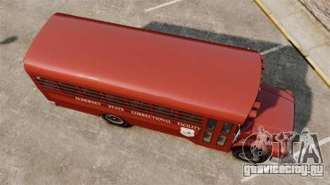 GTA IV TLAD Prison Bus для GTA 4 вид справа