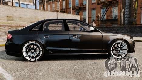 Audi S4 Unmarked Police [ELS] для GTA 4 вид слева