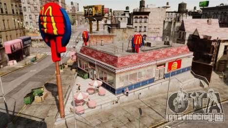 Рестораны McDonalds и Taco Bell для GTA 4 второй скриншот