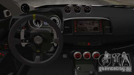 Mitsubishi Lancer X Evolution для GTA San Andreas вид справа