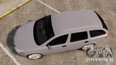 Skoda Octavia RS Unmarked Police [ELS] для GTA 4 вид справа
