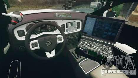 Dodge Charger RT 2012 Slicktop Police [ELS] для GTA 4 вид сзади