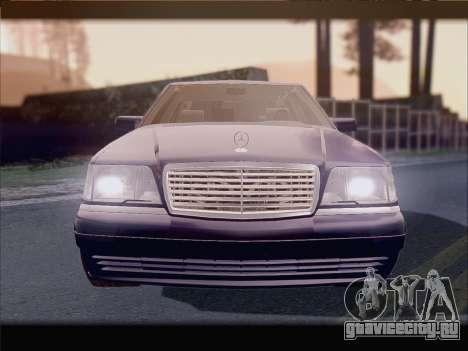 Mercedes-Benz S600 V12 V1.2 для GTA San Andreas вид изнутри