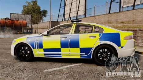 Jaguar XFR 2010 Police Marked [ELS] для GTA 4 вид слева
