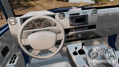Toyota Land Cruiser 70 2013 для GTA 4 вид сзади