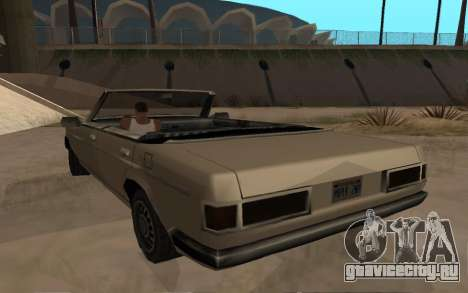 Admiral Cabrio для GTA San Andreas вид сзади слева