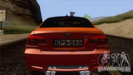 BMW M3 E92 2008 Vossen для GTA San Andreas вид снизу