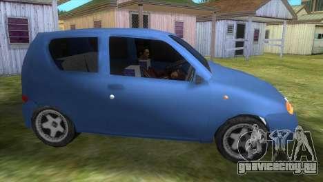 Fiat Seicento для GTA Vice City вид слева
