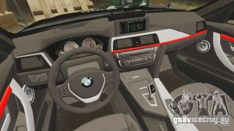 BMW F30 328i Metropolitan Police [ELS] для GTA 4 вид сбоку