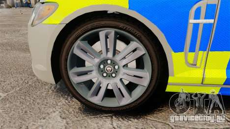 Jaguar XFR 2010 West Midlands Police [ELS] для GTA 4 вид сзади