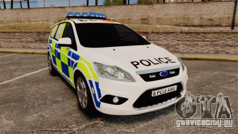 Ford Focus Estate 2009 Police England [ELS] для GTA 4