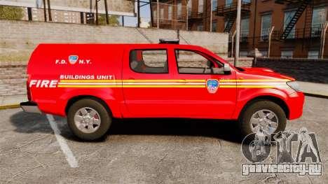Toyota Hilux FDNY [ELS] для GTA 4 вид слева