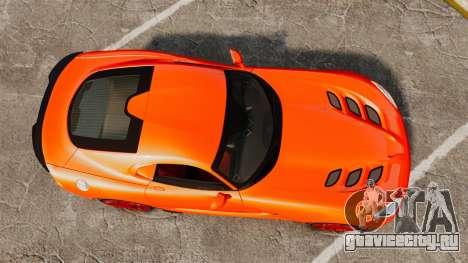 Dodge Viper SRT TA 2014 для GTA 4 вид справа