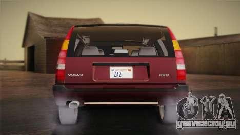Volvo 850 Estate Turbo 1994 для GTA San Andreas вид сзади слева