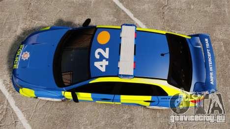 Subaru Impreza WRX STI 2011 Police [ELS] для GTA 4 вид справа