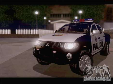 Mitsubishi L200 POLICIA для GTA San Andreas вид слева