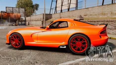 Dodge Viper SRT TA 2014 для GTA 4 вид слева