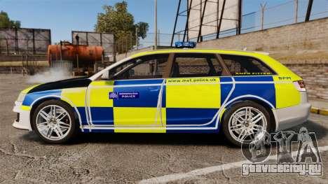 Audi RS6 Avant Metropolitan Police [ELS] для GTA 4 вид слева