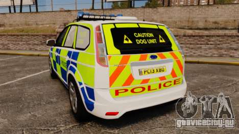 Ford Focus Estate 2009 Police England [ELS] для GTA 4 вид сзади слева