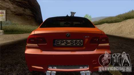 BMW M3 E92 2008 Vossen для GTA San Andreas вид сверху