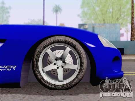 Dodge Viper SRT-10 Coupe для GTA San Andreas вид справа
