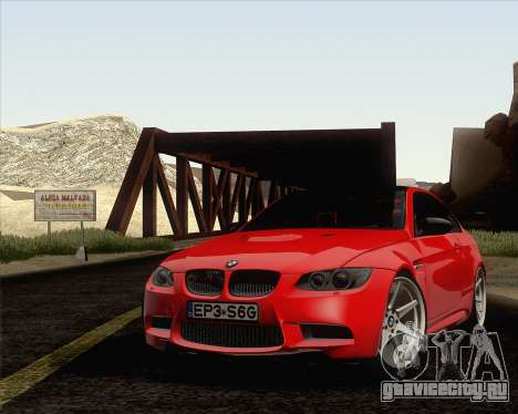 BMW M3 E92 2008 Vossen для GTA San Andreas салон