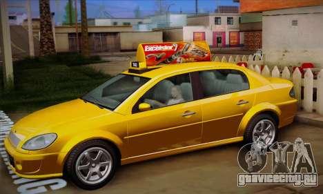 Declasse Premier Taxi для GTA San Andreas вид изнутри