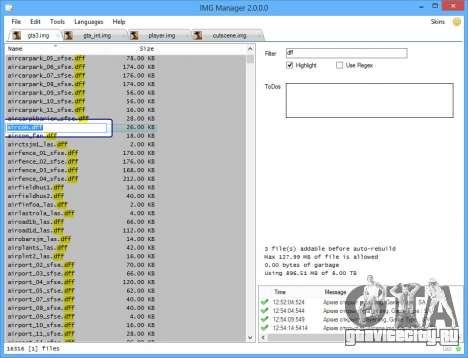 IMG Manager 2.0 для GTA San Andreas третий скриншот