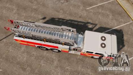 MTL Firetruck MDH1000 LCFR [ELS] для GTA 4 вид сзади слева