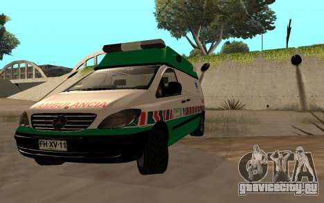 Mercedes-Benz Vito Ambulancia ACHS 2012 для GTA San Andreas