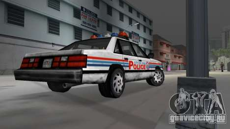 BETA Police Car для GTA Vice City вид сзади слева