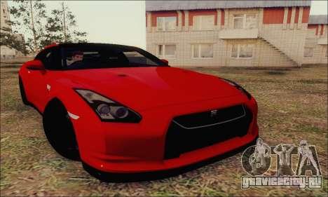 Nissan GT-R Spec V для GTA San Andreas вид изнутри