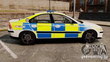 Volvo S60R Police [ELS] для GTA 4 вид слева
