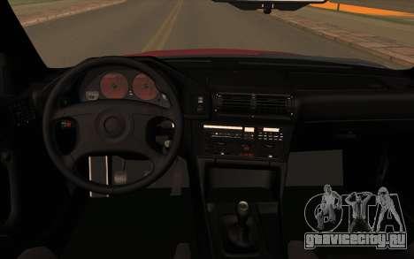 BMW E34 для GTA San Andreas вид сзади