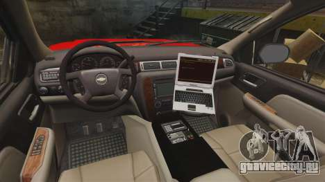 Chevrolet Tahoe Fire Chief v1.4 [ELS] для GTA 4 вид сзади