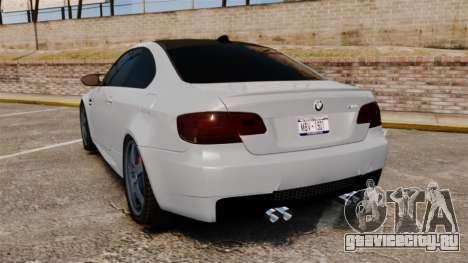 BMW M3 E92 для GTA 4 вид сзади слева
