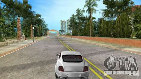 Bentley Continental Extremesports для GTA Vice City вид сзади слева