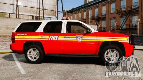 Chevrolet Tahoe Fire Chief v1.4 [ELS] для GTA 4 вид слева