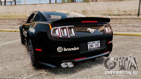 Ford Mustang GT 2013 NFS Edition для GTA 4 вид сзади слева