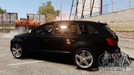 Audi Q7 Unmarked Police [ELS] для GTA 4 вид слева