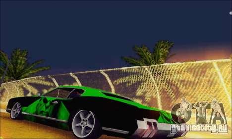 Modified Sabre Low для GTA San Andreas вид сзади слева