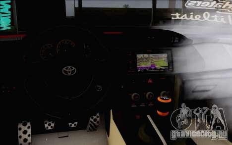 Toyota GT86 Lowstance для GTA San Andreas вид справа
