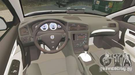 Volvo S60R Unmarked Police [ELS] для GTA 4 вид изнутри