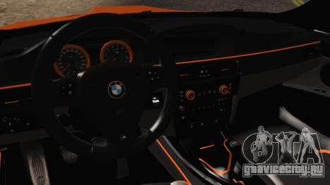 BMW M3 E92 2008 Vossen для GTA San Andreas вид изнутри