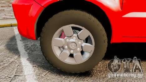 Toyota Hilux FDNY [ELS] для GTA 4 вид сзади