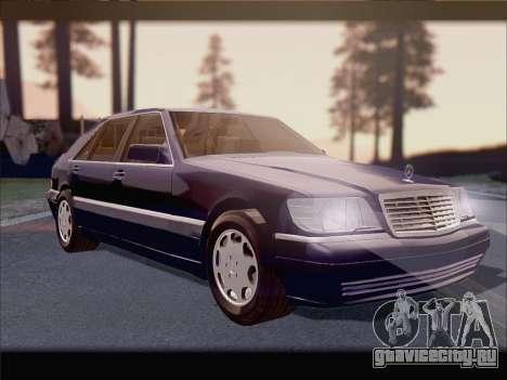 Mercedes-Benz S600 V12 V1.2 для GTA San Andreas вид сбоку