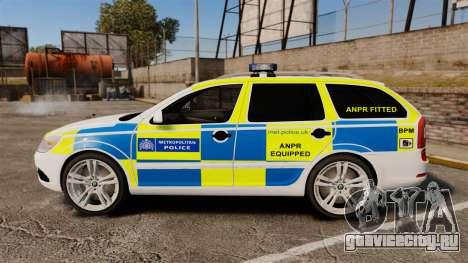 Skoda Octavia Scout RS Metropolitan Police [ELS] для GTA 4 вид слева