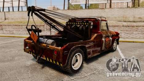 Chevrolet Tow truck rusty Rat rod для GTA 4 вид сзади слева